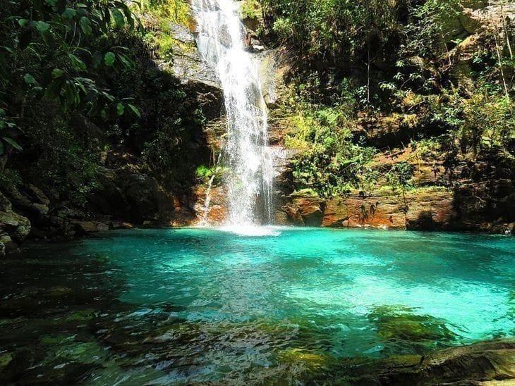 Melhores Cachoeiras da Chapada dos Veadeiros: Cachoeira Santa Bárbara