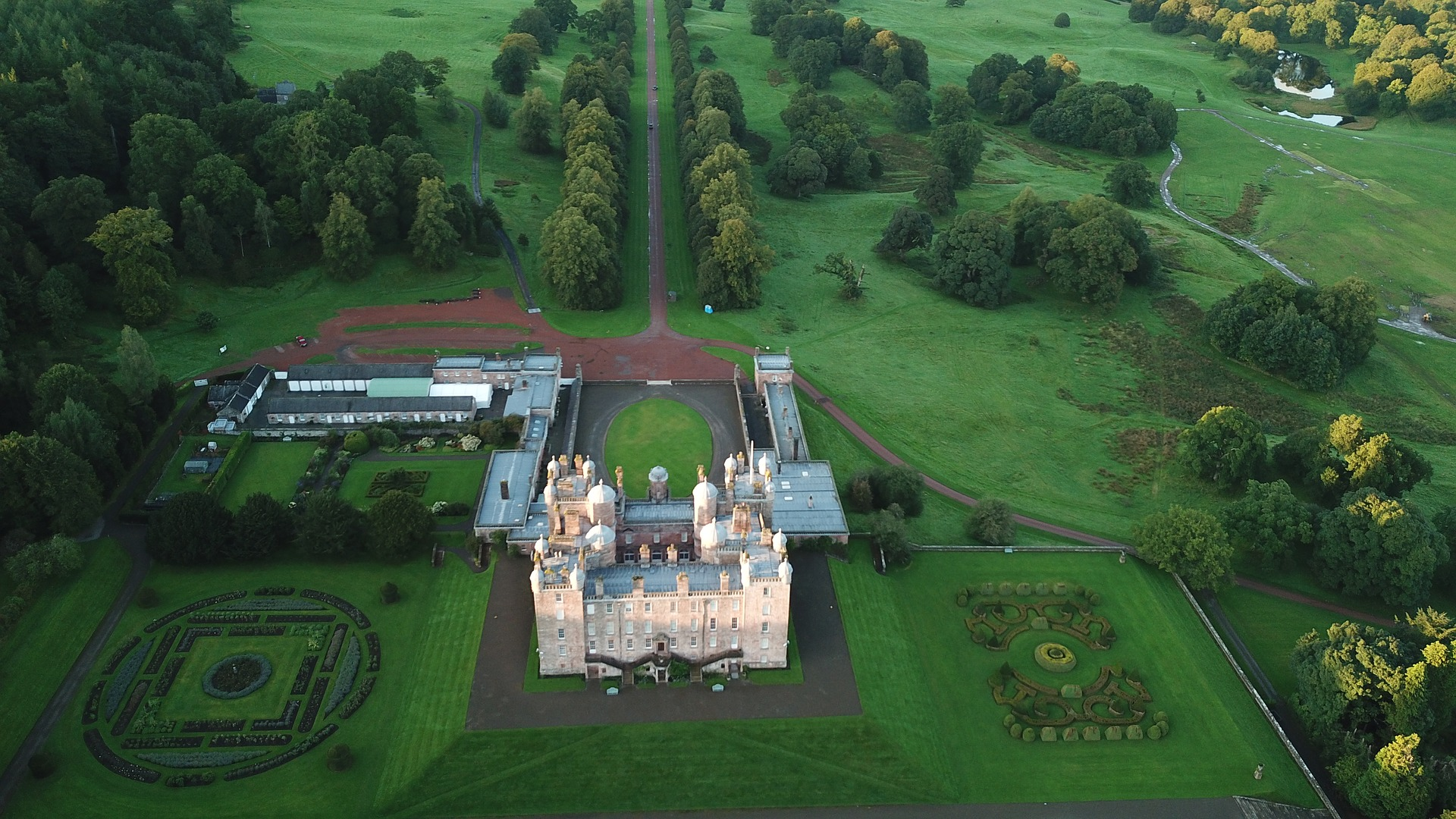 Cenário de Outlander Bellhurst Manor